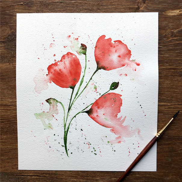 Watercolour Loose Florals