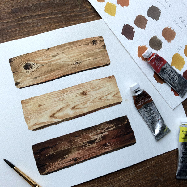 Watercolour Wood