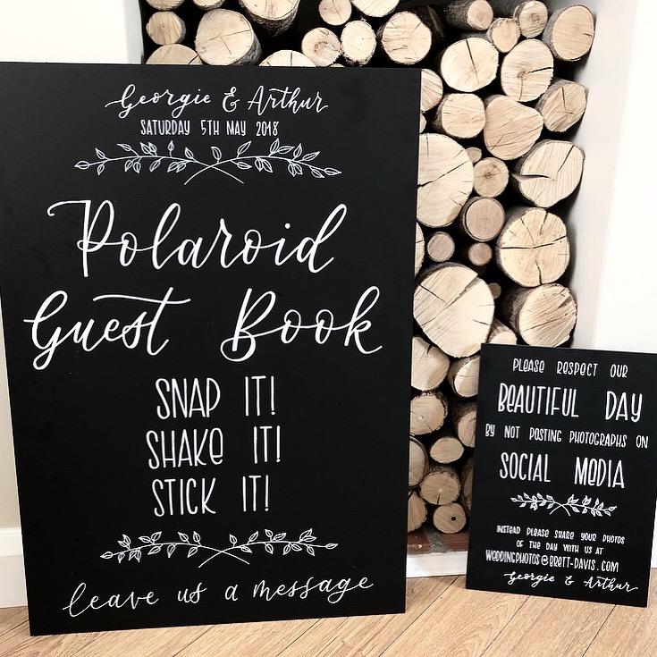 Handlettered Wedding Chalkboards