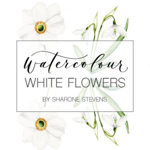 Watercolour White Flowers Class Cover Image